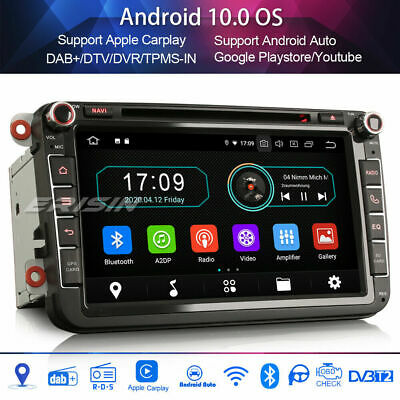Android 8.1 DAB+Autoradio For Passat Golf Polo V 6R Scirocco Skoda Seat CD GPS