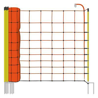 50m H:108cm AKO Electric Fence Netting Orange P:14 S:2 Sheep Poultry