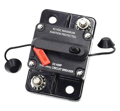 50A Car Auto Audio Marine Boat Audio Circuit Breaker DC 12V-42V Circuit Breaker
