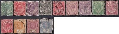 (K78-34) 1902-12 Straits settlement 13stamps values up to 10c (AI)
