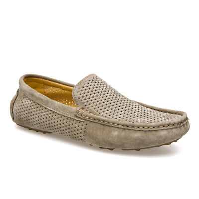 9fea2de17d4 Mens Breathable Driving Loafers Summer Flats Comfortable Moccasins Boat  Shoes