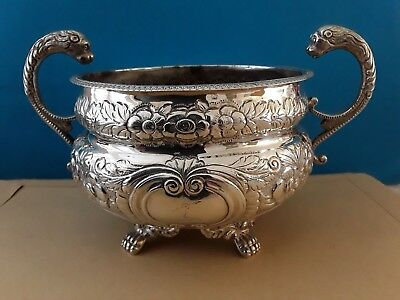 Fantastic Antique  Solid Silver Sucrier Dublin 1850