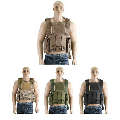 Camouflage Molle Military Tactical Protective Vest Airsoft Paintball Waistcoat