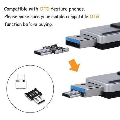 2X Micro USB Male to USB Female OTG Adapter Converter For Android Phone_Wert