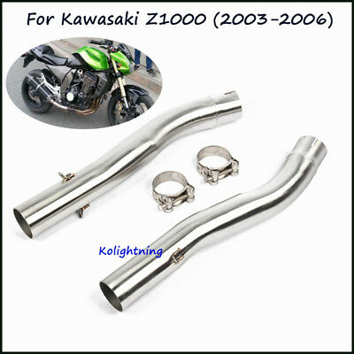 For Kawasaki Z1000 2003-06 Motorcycle Exhaust Muffler Mid Link Pipe Connect Tube