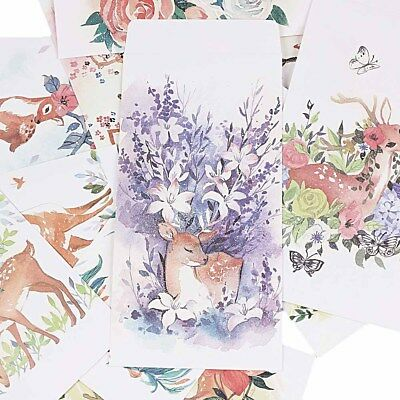 5 PCs/lot Beautiful Diy Gift Chinese Style Cover Paper Envelopes Forest Deer