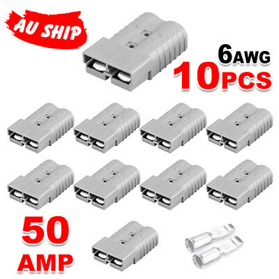 10 x 50 AMP Plugs for Anderson  Caravan Camping Fridge Solar 12-24V 6AWG