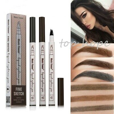 3 Colours Microblading Eyebrow Tattoo Pen Waterproof Fork Tip Sketch Makeup Ink