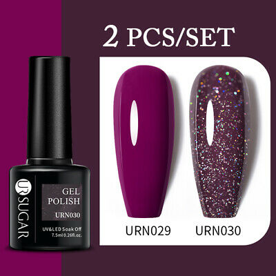 2Pcs/set Nail Gel Polish UV Lamp Gel Varnish Top Coat Base Soak Off Manicure DIY