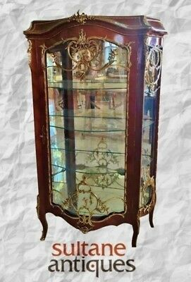 Gorgeous and Monumental Louis XV Linke style cabinet vitrine