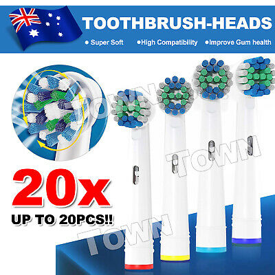 20pcs Electric Toothbrush Replacement Heads For Oral B Braun Models Series AU