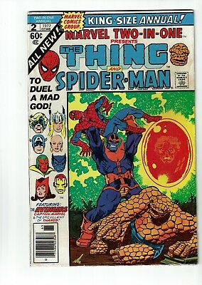 Marvel Two-In-One Annual #2, VG 4.0, Thanos, Avengers, Infinity War, Thing
