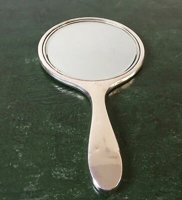 Silver Handheld Dressing Table Mirror