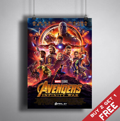 AVENGERS INFINITY WAR MOVIE POSTER 2018 FILM A3/A4 PRINT Wall Fan Art Decor Gift