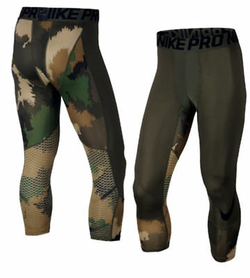NEW MENS NIKE Pro Hypercool 3/4 Camo Tights Pants 904632 325 Size