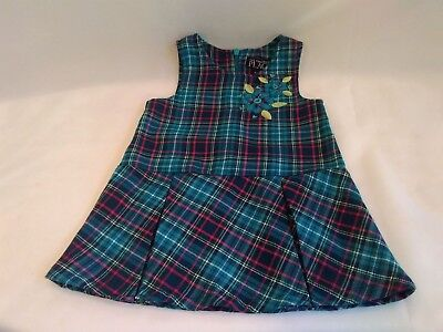 28cf82bb40f The Childrens Place Turquoise Plaid Sleeveless Dress Infant Girls Size 6-9  Month
