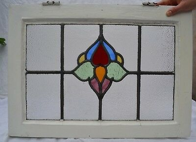 1 English leaded light stained glass window panel. B770a. WORLDWIDE DELIVERY!!!