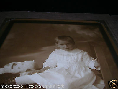 """Large Antique Child photo photograph 1920's FREE SHIPPING!!!  9 x 7""""     274.4"""