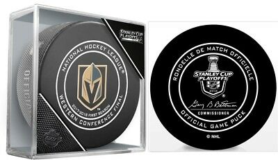 Vegas Golden Knights Game Puck Western Conference Final Nhl Stanley Cup Playoff