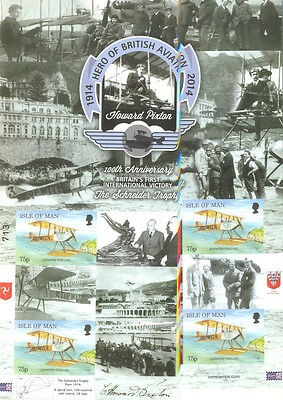 Isle of Man-IMPERF Aviation Schneider Air Race -mnh-All stamps imperforate