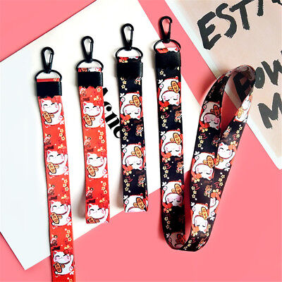 lucky cat rope mobile phone straps for samsung hanging strap lanyard phone F0
