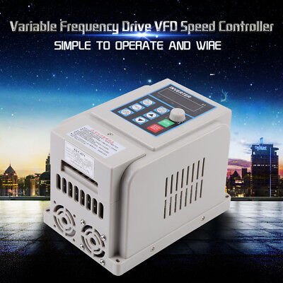 VFD Variable Frequency Speed Drive 8A 220V 1.5 kW PWM Single Phase to 3-Phase UK