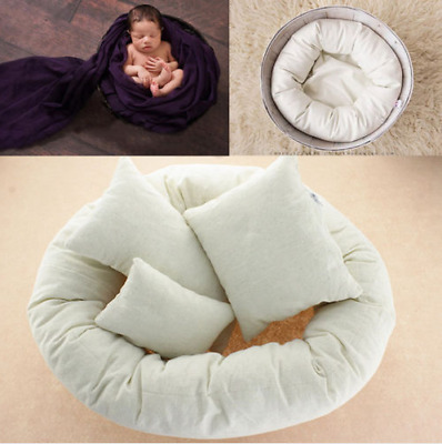 Newborn Baby Infant Child Photography 4Pcs Filled Pillow Donut Posing Photo Prop