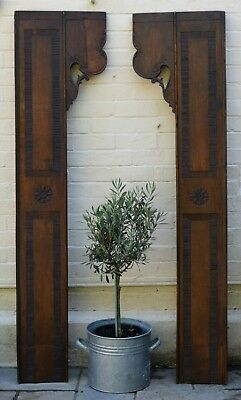 Pair Antique French Carved Oak Wall Panels / Feature / Door Surround. Very Large