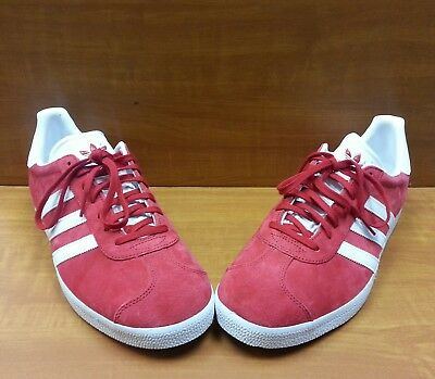huge selection of 62049 493ac Adidas Originals Gazelle Mens Size 11.5 Art Bb5486 Power Redwhitegold