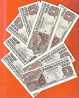 Food Stamp Coupon One  $1.00 Circulated Torn From Book Usda Date Will Very