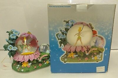 Disney Store Exclusive Tinkerbell Snow Globe Plays Swan Lake w/ Box RARE