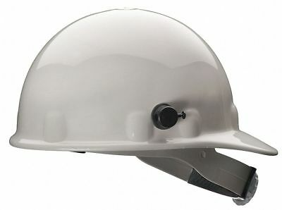 Front Brim Hard Hat, 8 pt. Ratchet Suspension, White, Hat Size: 6-1/2 to 8
