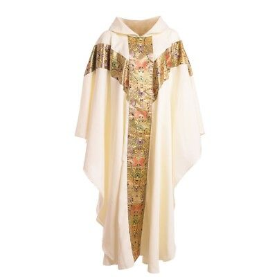 Christian Catholic Clergy Chasuble Church Pastor Priest Eucharist Robe White