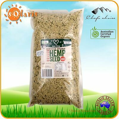 1Kg LOVIN' BODY Organic Hemp Seeds Australian ACO Certified Hulled Superfood