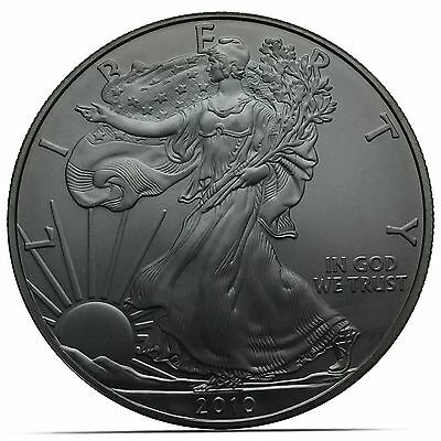 2010 Jet Black Silver American Eagle 1 Troy oz .999 silver Coin (0159)