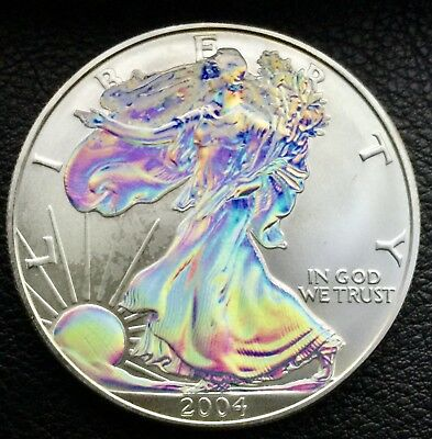 2004 Silver American Eagle Hologram 1 Troy oz .999 Fine silver Coin (9524)