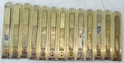 13 Sub Bass Large Brass Reeds Lyon Healy Pump Organ Antique Used Part Repair