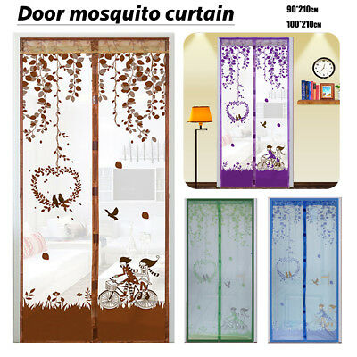Instant Mesh Screen Net Door Magnetic Hands-Free Anti Mosquito Bug Fly Curtain J