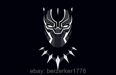 Black Panther Mask 3'x5' black horizontal Flag Banner Marvel Avengers US Shipper