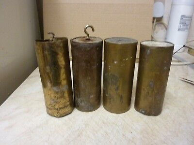 4 Brass Cased Vienna Regulator Clock Weights (A)