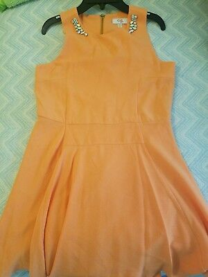 1813a55cdae New with out tags GB GIRLS sz 16tangerine orange embellished sleeveless  dress