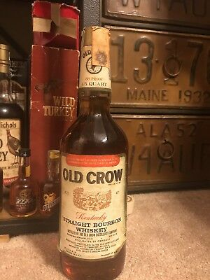 1971 Old Crow Bourbon Whiskey Bottle
