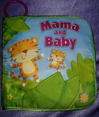 Baby Child Kid Toddler Mama and Baby Animal Crinkle Activity Soft Cloth Book Toy