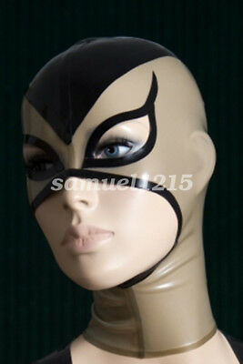 100%Latex Rubber Mask Masque Black and Smoke Gary Unique Maske 0.4mm XXS-XXL