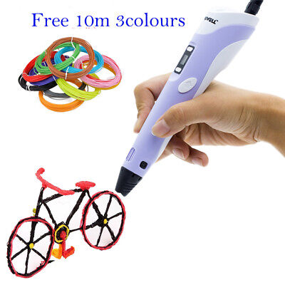 3D Printing Pen 2nd LCD Crafting Doodle Drawing Arts Printer Modeling PLA/ABS