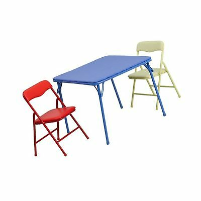 FLASH FURNITURE Kids 5 Piece Folding Square Table and Chair Set ...