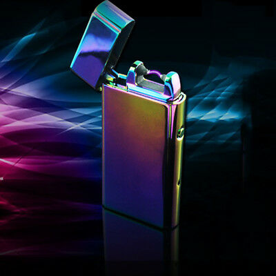 Wind-proof Dual Arc Electric USB Lighter Rechargeable Plasma Flameless Cigarette