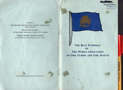 1959  The BLUE PAMPHLET of The WORLD ASSOCIATION of GIRL GUIDES & GIRL SCOUTS