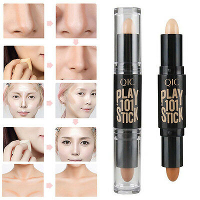 Women Beauty Makeup Highlight Contour Stick Face Cream Shimmer Concealer Pen Kit
