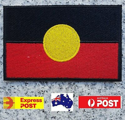 Aboriginal Flag Biker Patch Harley Davidson Iron On Patch Sew Badge Aussie